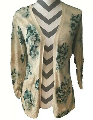$ CDN29 • Buy Guinevere Size S Anthropologie Cardigan Knit Sweater Modcloth Floral