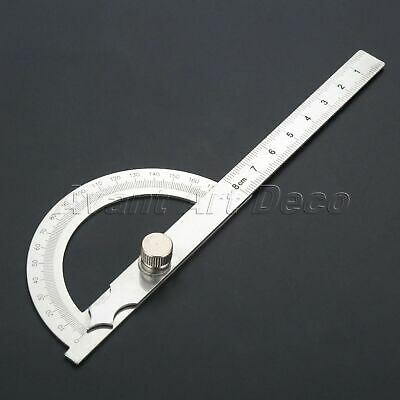 £4.39 • Buy Stainless Steel Protractor Ruler 0-180 Degrees Angle Finder Gauge Measuring Tool
