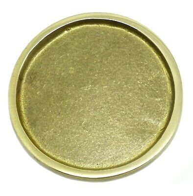 £18.95 • Buy Circular Plain Belt Buckle Round Curved Solid Brass Authentic Baron Buckles
