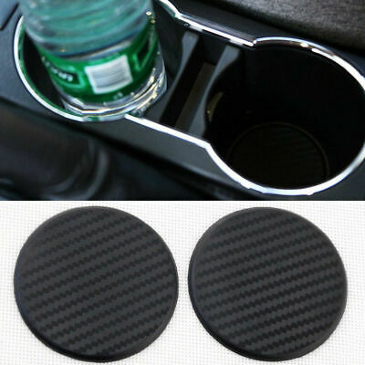 $2.56 • Buy 2PACK Silicone Car Auto Water Bottle Drink Cup Holder Pad Mat Carbon Fiber Parts