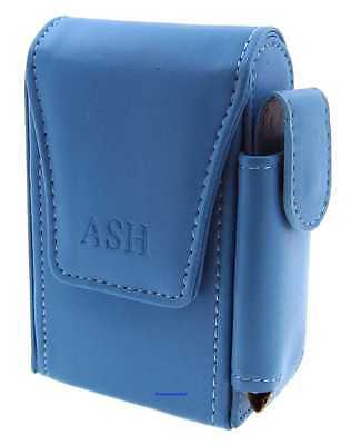 Cigarette Packet Case - Ash Blue Leather Style With Lighter Holder - NEW Apc10 • 9.49£