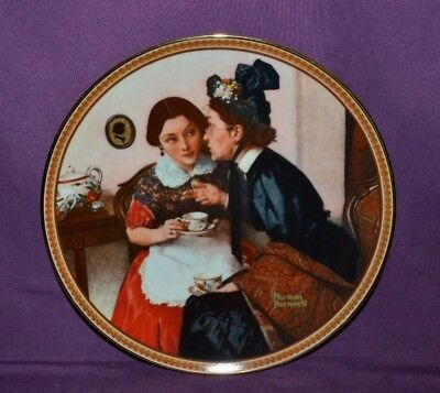 $ CDN19 • Buy  Plate By Norman Rockwell  Gossiping In The Alcove  Rockwell's Rediscover Women