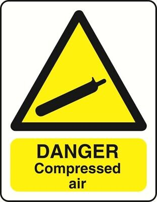 Danger Compressed Air Health And Safety Warning Sticker Latex Printed Warn126 • 2.49£