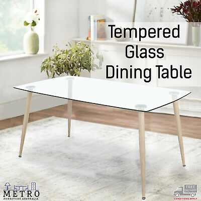 AU198.90 • Buy New Luxury Tempered Glass Dining Table Living Room Furniture