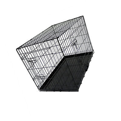 View Details Oypla 36' Folding Metal Dog Cage Puppy Transport Crate Pet Carrier • 75.18£