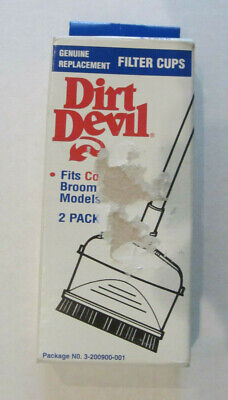 $6.95 • Buy Dirt Devil Filter Cups  3-200900-001  Cordless Broom Vac  Contains 2
