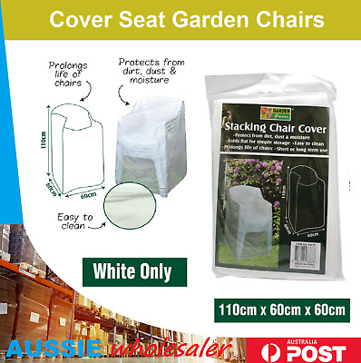 AU13.95 • Buy 2X Stacking Chair Cover Waterproof Outdoor Garden Patio Furniture  Xmas Party