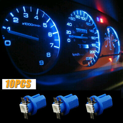 $ CDN2.06 • Buy 10x T5 B8.5D 5050 1SMD LED Blue Dashboard Dash Gauge Instrument Light Lamp Bulbs