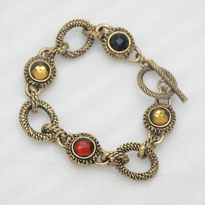 $ CDN10.11 • Buy 7  Lia Sophia Signed Vintage Gold Tone Lobster Bangle Unique Bracelet For Women