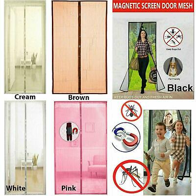 £6.39 • Buy Magnetic Insect Magic Door Net Screen Bug Mosquito Fly Insect Curtain Mesh Guard