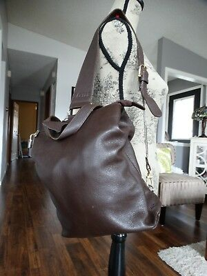 $ CDN89.99 • Buy DANIER Soft Brown Leather Swing Bag