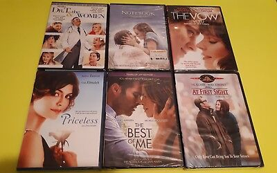 $ CDN31.10 • Buy Lot Of 6 Romance DVD'S New At First Sight Priceless The Notebook The Vow Dr T