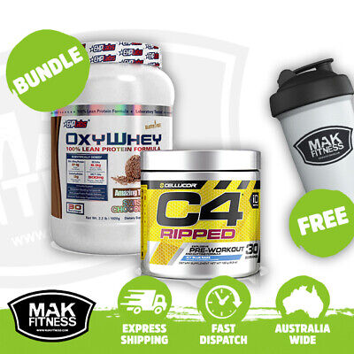 AU110.95 • Buy OxyWhey + C4 Ripped | Bundle | FREE Shaker & Shipping