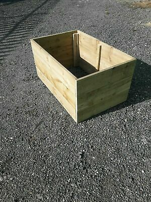 Wooden Garden, Vegetable Herb Raised Bed Planter Borders Wooden Garden Planter • 17£