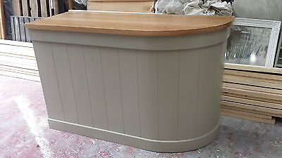 Curved Shop Counter/home Drinks Bar Oak Top/made To Measure/farrow And Ball  • 700£