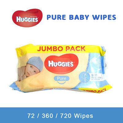 AU22.65 • Buy Huggies Pure Baby Wet Wipe 72/360/720  Jumbo Pack Pure Alcohol & Fragrance Free