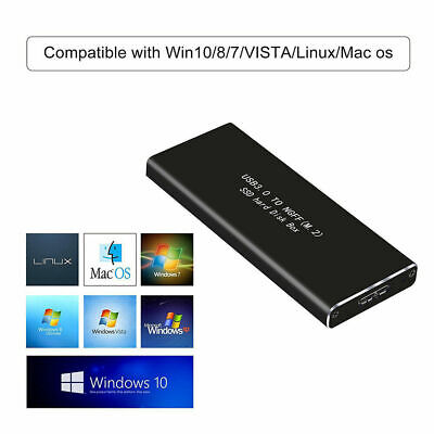 AU15.29 • Buy Aluminium M.2 NGFF SSD SATA TO USB 3.0 External Enclosure Storage Case Adapter