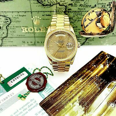 $ CDN17025.01 • Buy Rolex Day Date President 36mm Watch 18248 Box And Paper Houndstooth Factory Dial