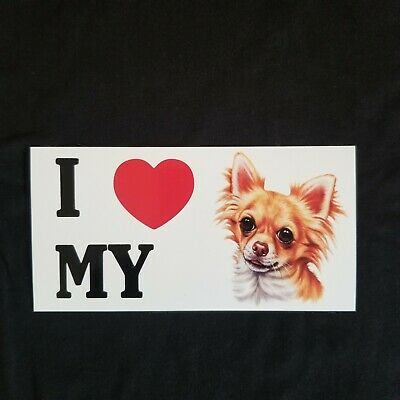 3 New I Love My Chihuahua Dog Stickers Decals  • 3.83£