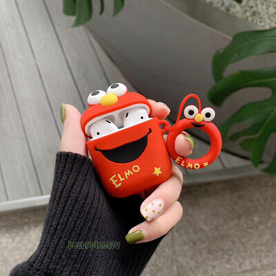 $ CDN6.89 • Buy 3D Sesame Street Elmo Headset Airpods Charge Case Cover Skin For Airpod + Ring
