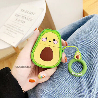 $ CDN6.56 • Buy 3D Cartoon Avocado Headset Airpods Charge Case Cover Skin For Airpod 1 2