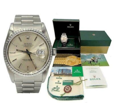 $ CDN6525.09 • Buy '91 Stainless Steel Rolex Oyster Perpetual Datejust Silver Dial Watch 16200 36mm