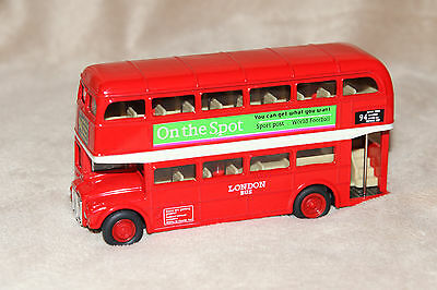 $ CDN14.99 • Buy Welly 99830 Die Cast London Double Decker Bus Pull Back Action Euc 7015
