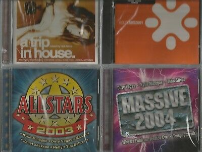 $ CDN17.50 • Buy Lot Of 4 New CDs House Mix 2001 A Trip In House Massive 2004 All Stars 2003