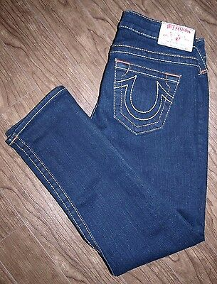 $42.26 • Buy True Religion Lizzy Size 26 Womens Low Rise Skinny Cropped Jeans