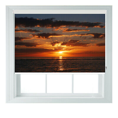Sunset Beach Sea View Printed Photo Black Out Roller Blinds 2 3 4 5 6ft • 65£