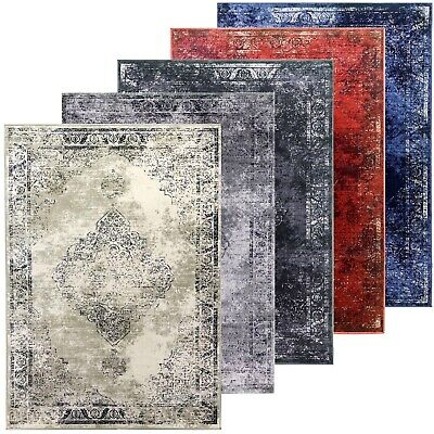 £79.95 • Buy Traditional Rug Classic Timeless Oriental Design Faded Distressed Aged Low Pile