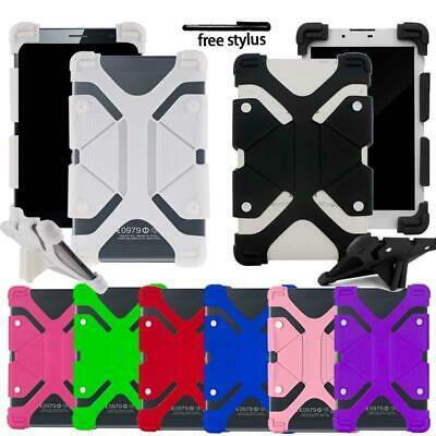 Universal Shockproof Silicone Stand Cover Case For Various 10  Tablet + Stylus • 6.99£