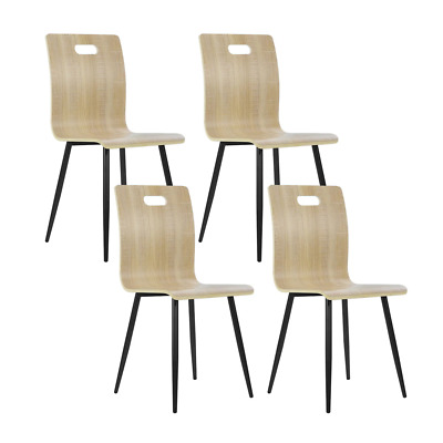 AU95.40 • Buy Artiss Set Of 4 Dining Chairs Bentwood Seater Metal Legs Cafe Kitchen Chair Wood