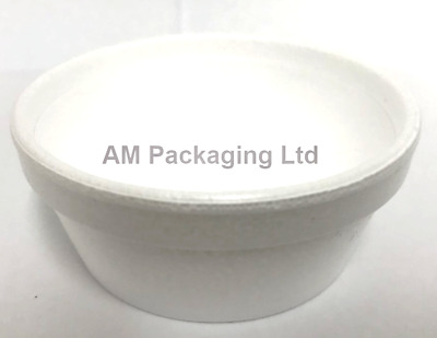 # 3oz SOLO Insulated Quality White Polystyrene Containers Foam Catering NO LIDS • 10£