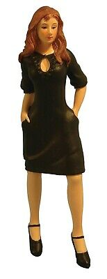 Dolls House Miniature 1/12th Scale Resin Modern Woman In Black Dress DP328 • 10.99£
