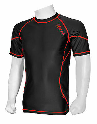 £7.99 • Buy Mens Compression Armour Base Layer Top Half Sleeve Thermal Gym Sports Shirt