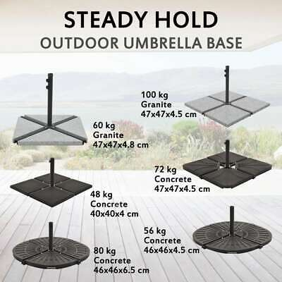 AU40.99 • Buy VidaXL Umbrella Stand With Weight Plates Sunshade Base Plate Multi Models