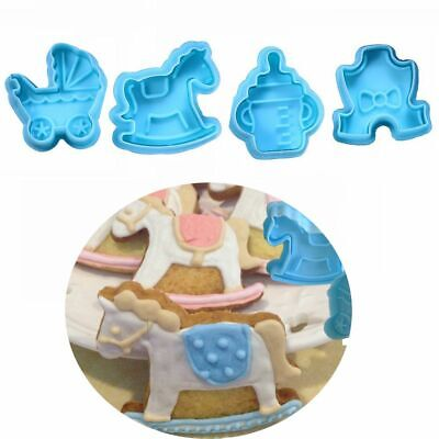£3.02 • Buy Cake Decor Plunger Kitchen Cookie Cutter Baby Biscuit Mold Fondant Pastry Mould