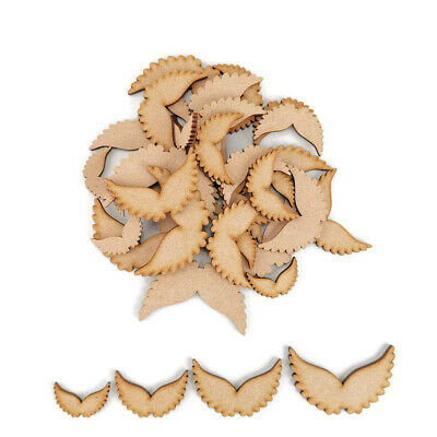 £3.25 • Buy Angel Wings MDF Craft Shapes Wooden Blank Gift Tags Decoration Embellishments