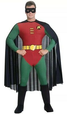 Official Adult BATMAN Or ROBIN Fancy Dress Costume Outfit Mens Large • 24.99£
