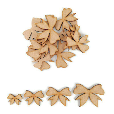 £1.85 • Buy Bow MDF Craft Shapes Wooden Blank Gift Tags Decoratio Christmas Wedding Cutout