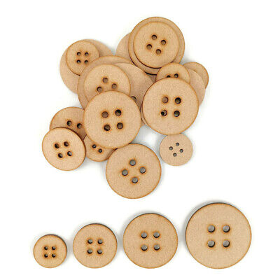 Button MDF Craft Shapes Wooden Blank Gift Tag Christmas Santa`s Lost Button  • 1.85£