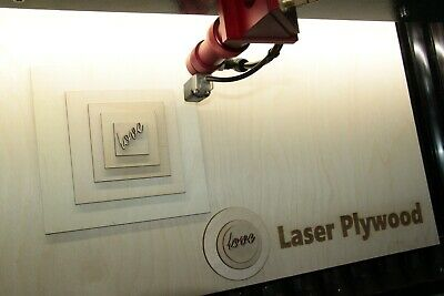 £24.50 • Buy Laser Safe Ply 3mm Birch Plywood Different Sizes Craft 500mm X 600mm