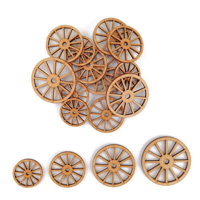 £8.15 • Buy Old Coach Cart Wheel MDF Craft Shapes Wooden Blank Gift Tags Decoration Laser