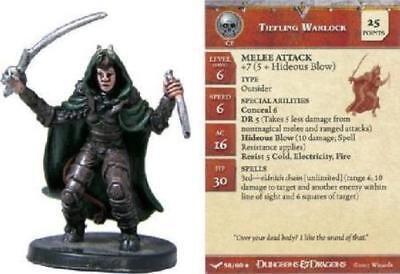 $ CDN7.87 • Buy D&D Miniature -  TIEFLING WARLOCK  #58  (Unhallowed - HARD TO FIND And UNUSED!!)