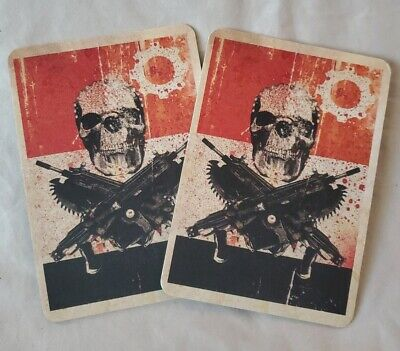 $50 • Buy New Gears Of War 3 OG Slick Dissizit Skulls & Lancers Logo Promo Coaster Set