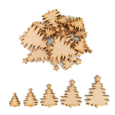 Classic Christmas Tree MDF Craft Shapes Wooden Gift Tags Decor Embellishment Art • 2.15£
