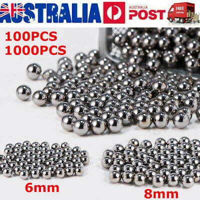 AU15.99 • Buy 100/1000PCS 6mm 8mm Steel Ball Bicycle Bike Steel Ball Bearing Replacement Part