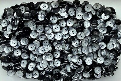 $2.49 • Buy Small 12mm 20L Light Silver Grey Pearlescent 2 Hole Craft Sewing Buttons (G22)