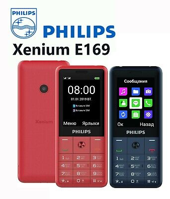 $59.95 • Buy Philips Xenium E169 Dual SIM Unlocked Free Mobile Phone 1600mAh FM Radio